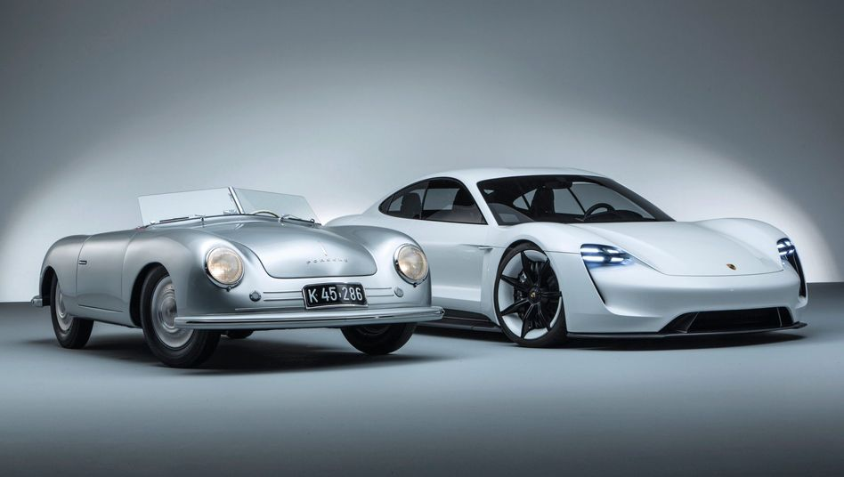 "Erster Porsche-Prototyp 356 ""Nr. 1"" Roadster, 1948, Elektroauto Taycan"