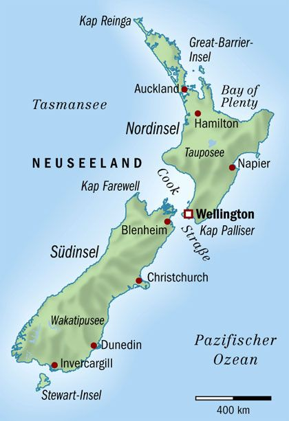 Neuseeland: Inseln am Windkanal