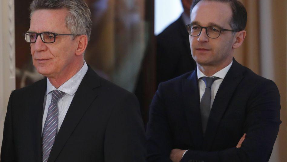 Thomas de Maizière und Heiko Maas