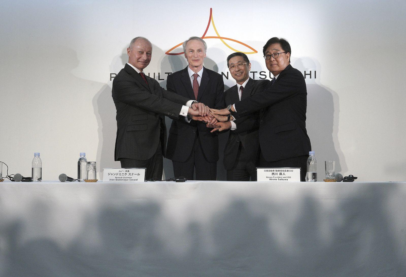 Gemeinsame Pressekonferenz von Renault, Nissan und Mitsubishi