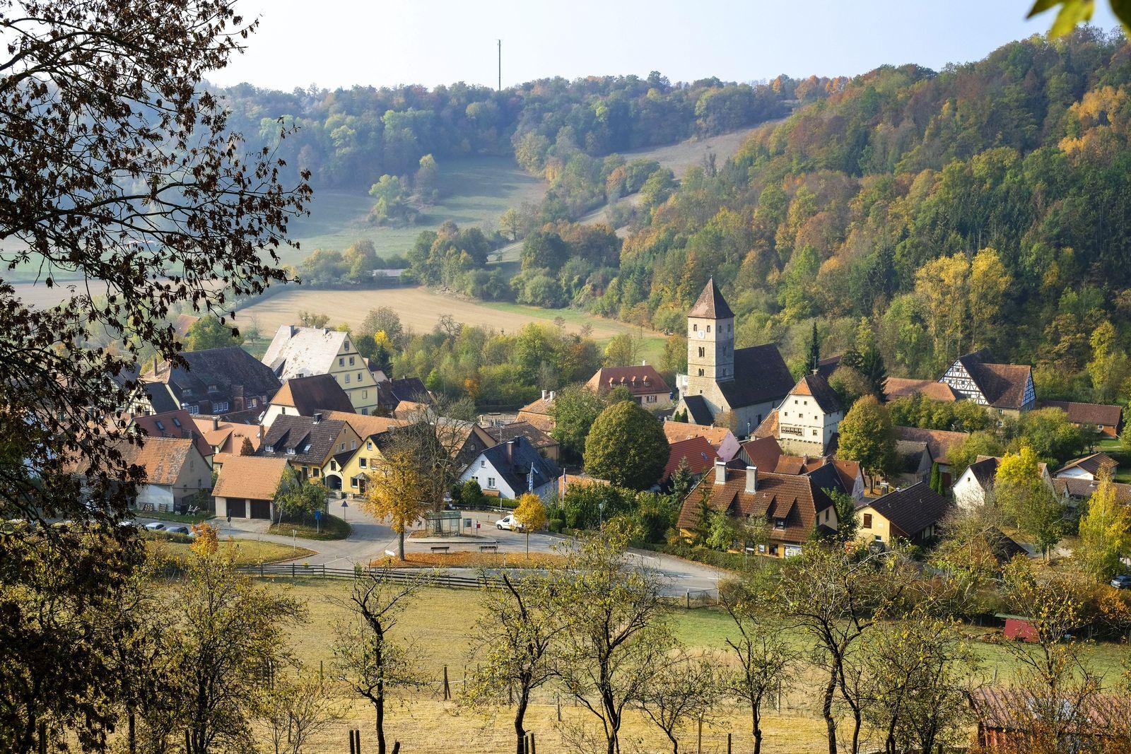 EINMALIGE VERWENDUNG Rothenburg ob der Tauber, Detwang, Mittelfranken, Bayern