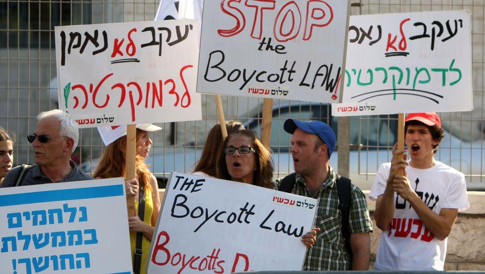 """Proteste gegen das Anti-Boykott-Gesetz: """"Die Feinde Israels werden diesen Text nutzen"""""""