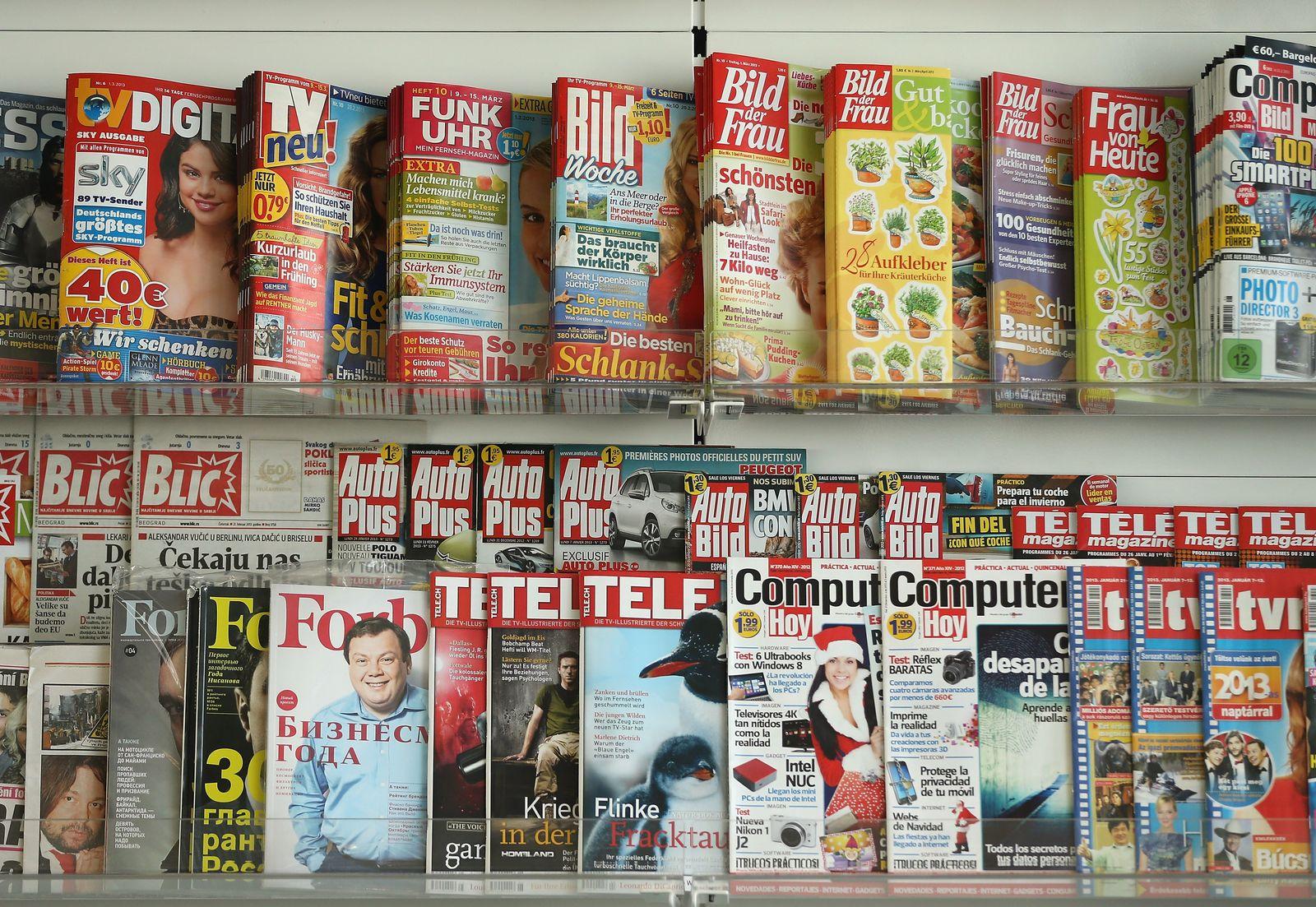 Symbolbild Deutsche Presse / Zeitungen / Zeitschriften