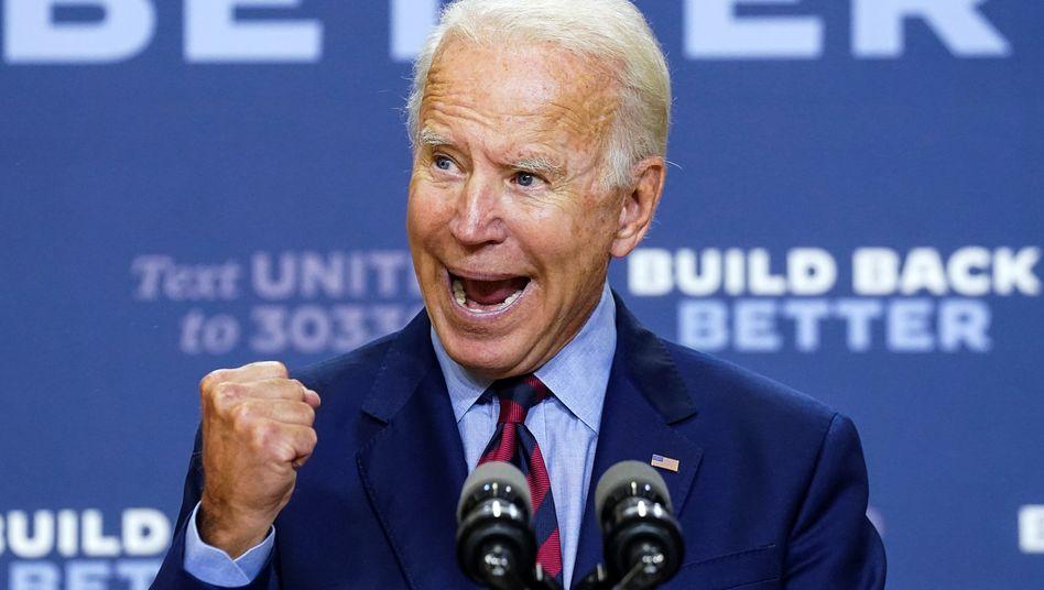 Der Demokrat Joe Biden bei einer Rede in Wilmington, Delaware