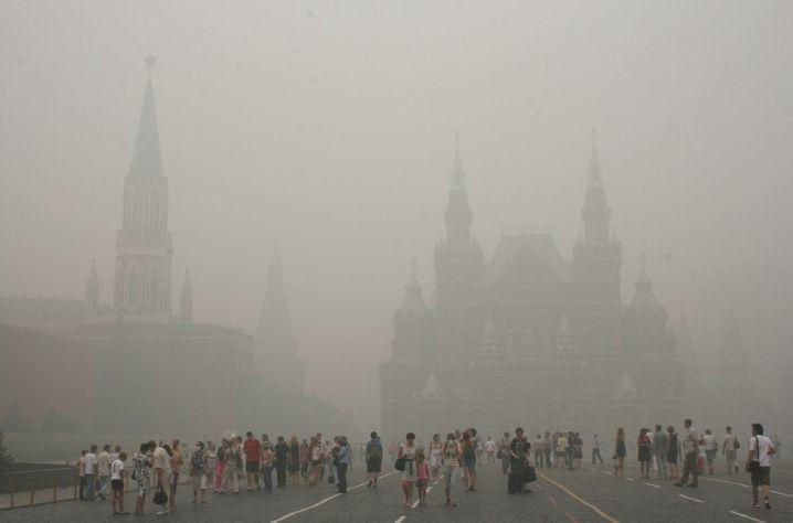 Rauch der vielen Wald- und Moorbrände in Russland verhüllte 2019 sogar die Hauptstadt Moskau