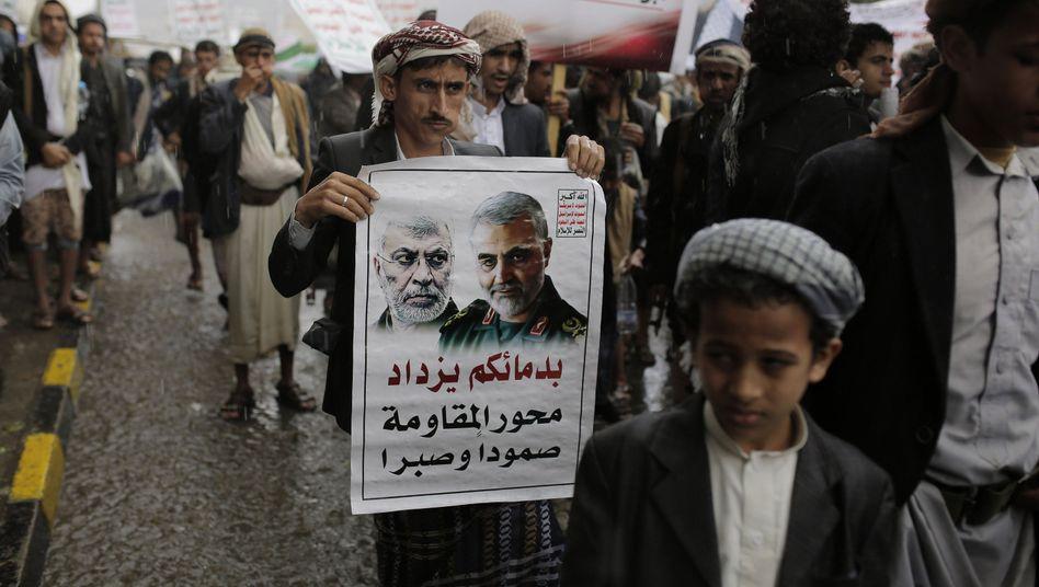 Auch in Jemen hatte es Proteste gegen die Tötung Soleimanis gegeben.