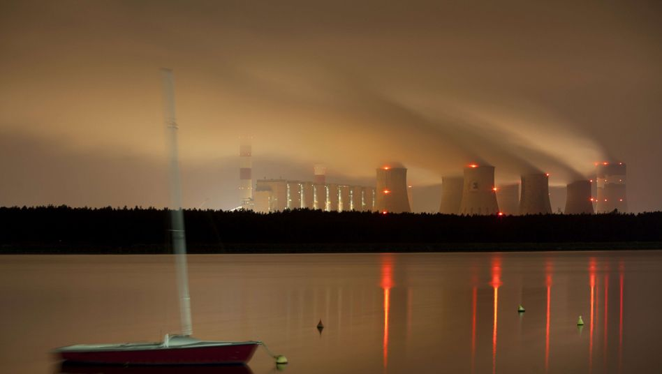 The Belchatow coal-fired power plant near Lodz is one of the world's largest.