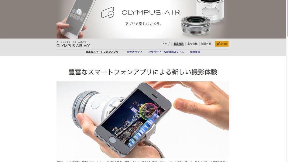 Neue Olympus-Kamera: Apps helfen beim Fotografieren und Filmen