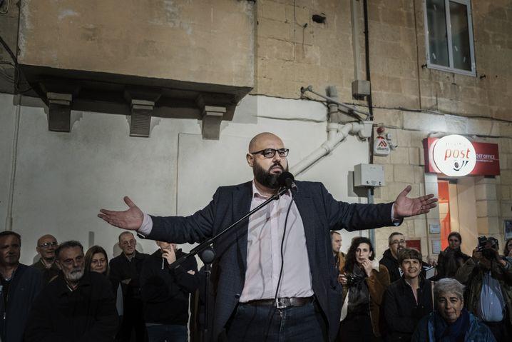 Political activist and blogger Manuel Delia