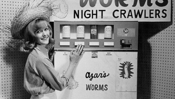 Bizarre Automaten: Nackerte, Nylonstrümpfe, Nudelsuppe to go