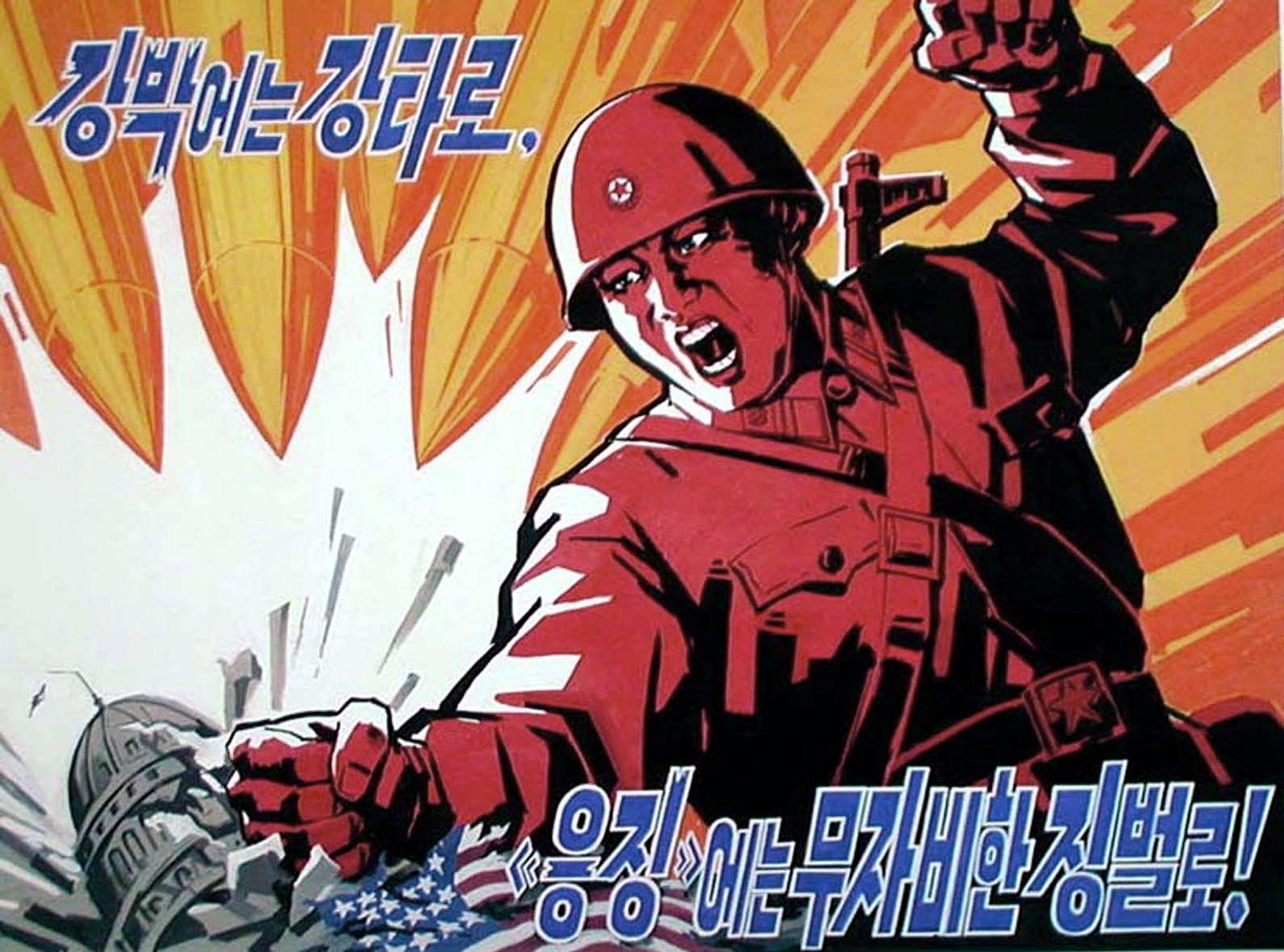 Nordkorea/ Nordkoreanisches Propagandaplakat