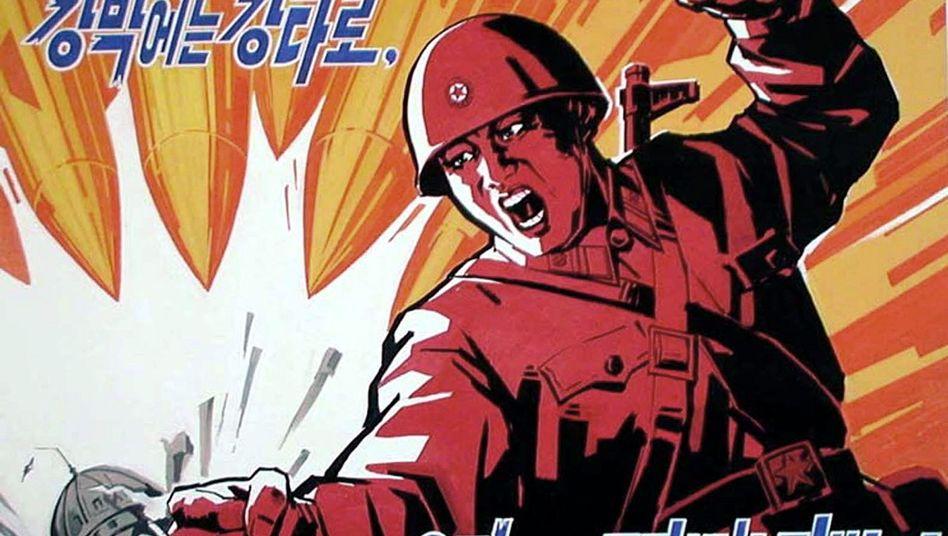 Propaganda-Poster aus Nordkorea (von 2003)