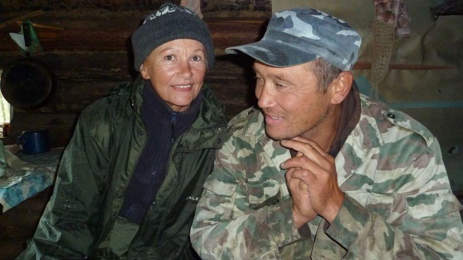 Karin Haß mit ihrem Mann Slawa