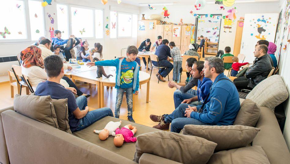 """Family House"" in der Bayernkaserne in München: Rund 1400 Flüchtlinge leben dort."