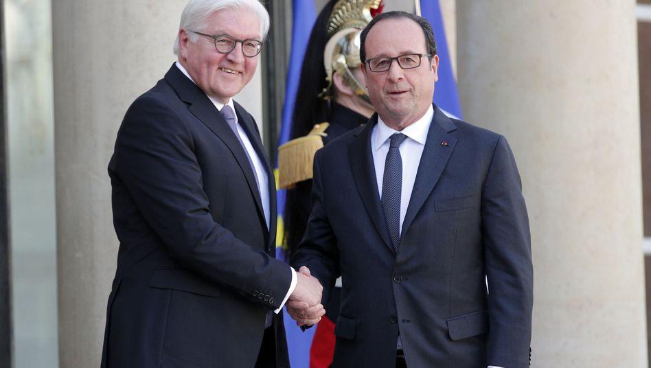 Steinmeier (l.) und Hollande