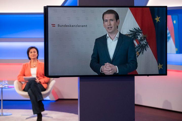 """Österreichs Kanzler Kurz bei """"Maischberger"""" in der Videoschalte"""