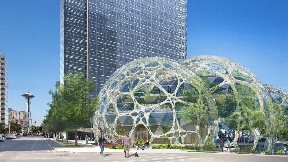 Neue Amazon-Firmenzentrale: Willkommen im Bürodschungel