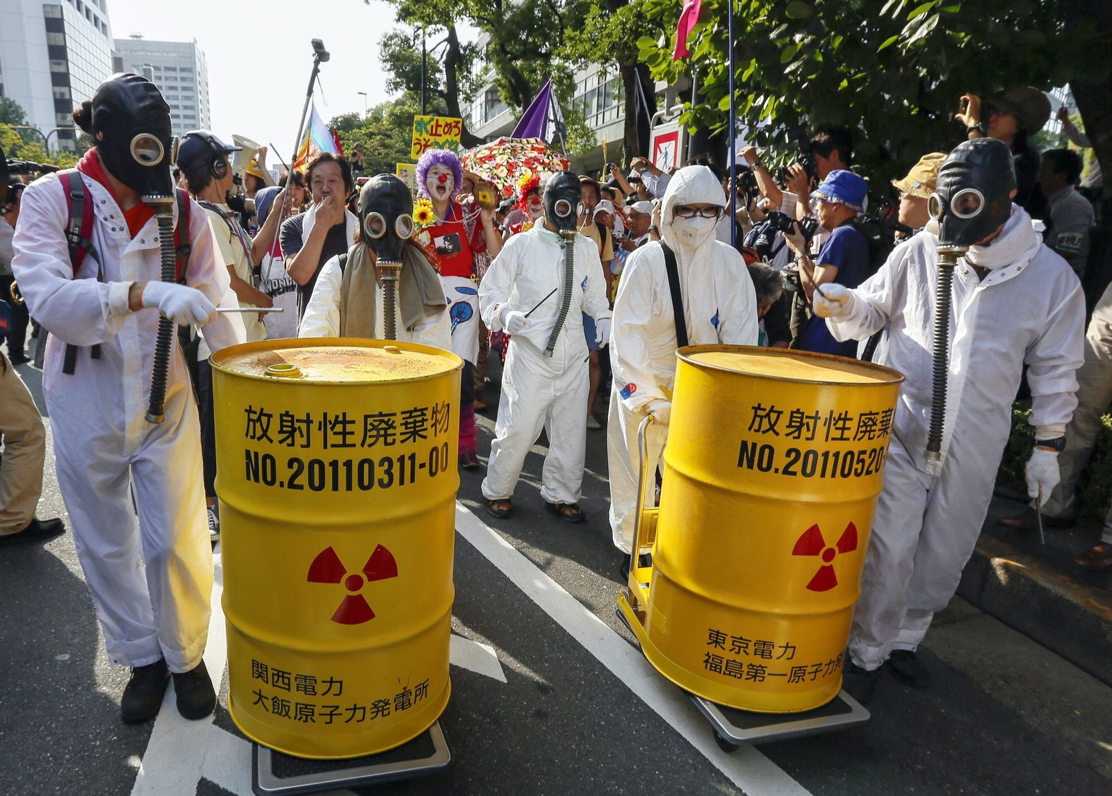 Demonstrator protest against nuclear power