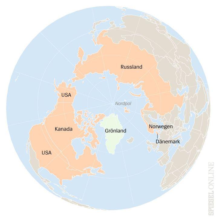 Arktis von oben: Grönland hat eine geostrategisch wichtige Lage