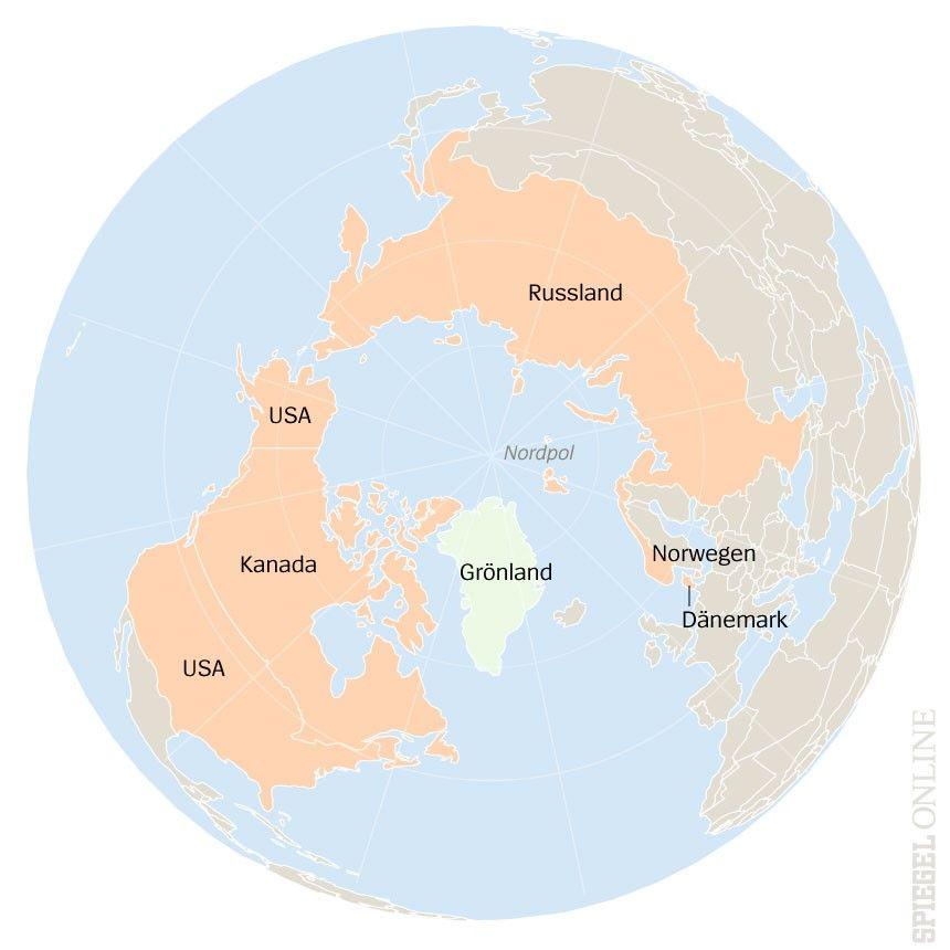 Karte Grönland