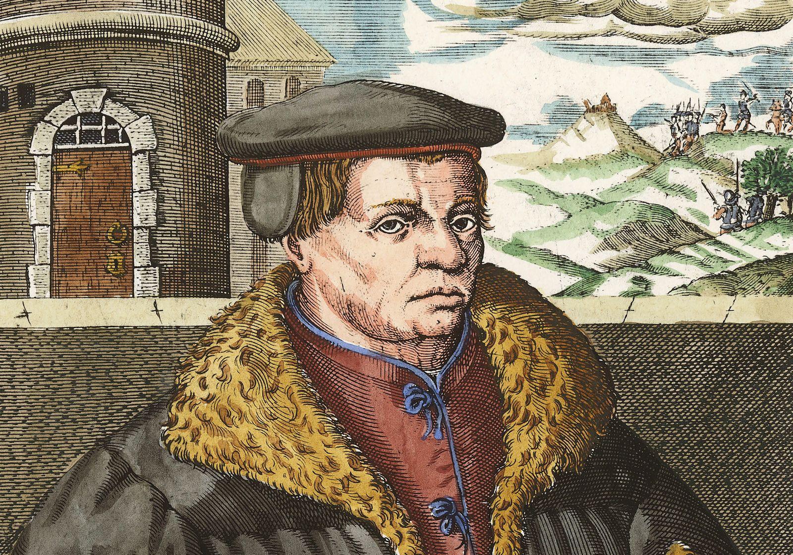 Thomas Muentzer/Portraet, Chr. van Sichem - Thomas Muentzer /Engr.by van Sichem/ 1608 - Thomas Muenzer/Portrait/Chr. van Sichem
