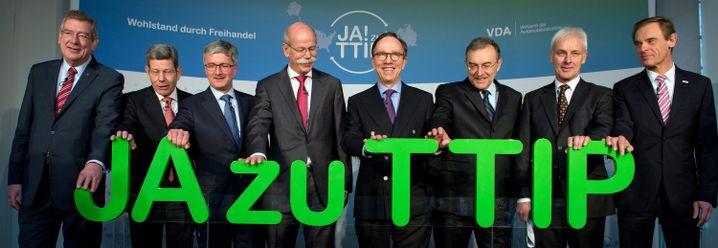 Konzernchefs als TTIP-Fans (Archivbild von 2015)
