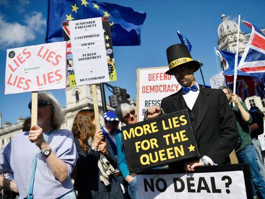 """Demonstranten in London: """"Von diesem Ort entkommen"""""""