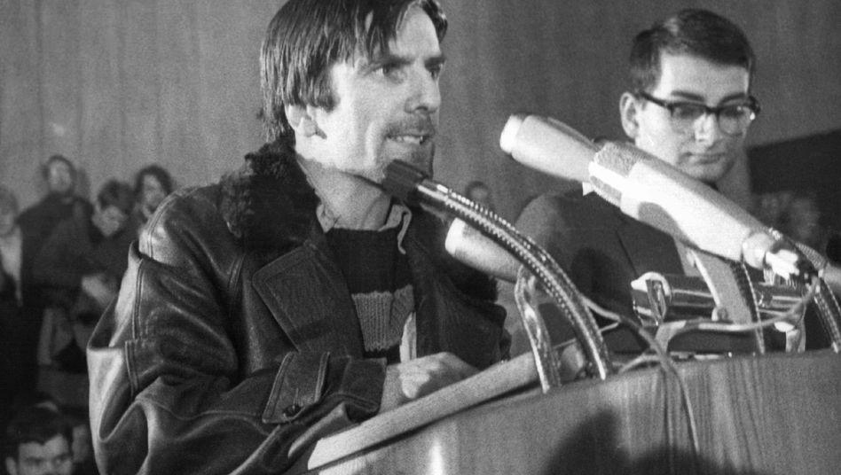"""Rudi Dutschke (Archivbild vom 27.11.1967): """"Er sollte sterben"""""""