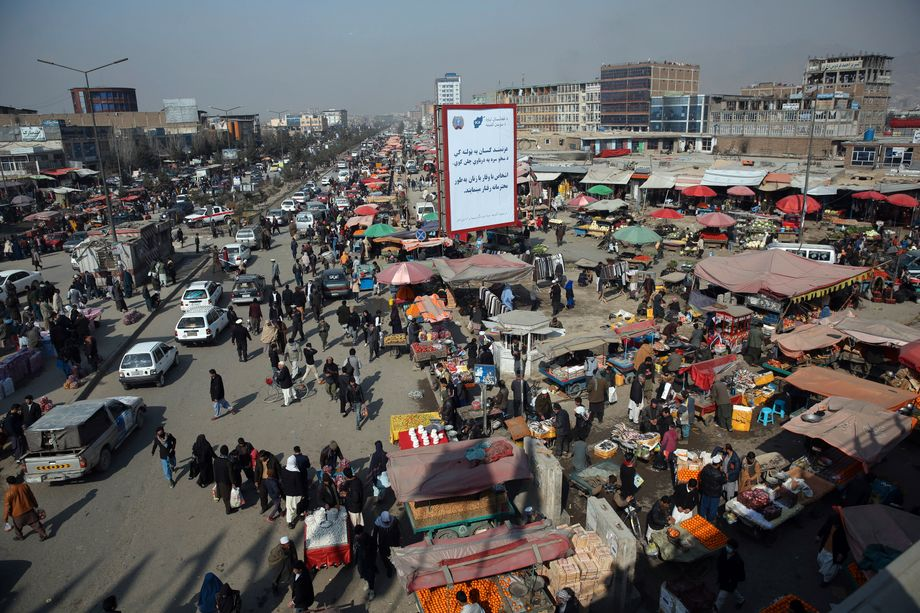 A market in Kabul