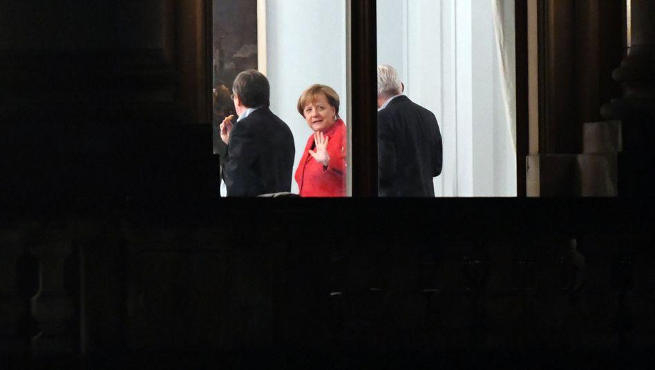 Angela Merkel während der Sondierungen