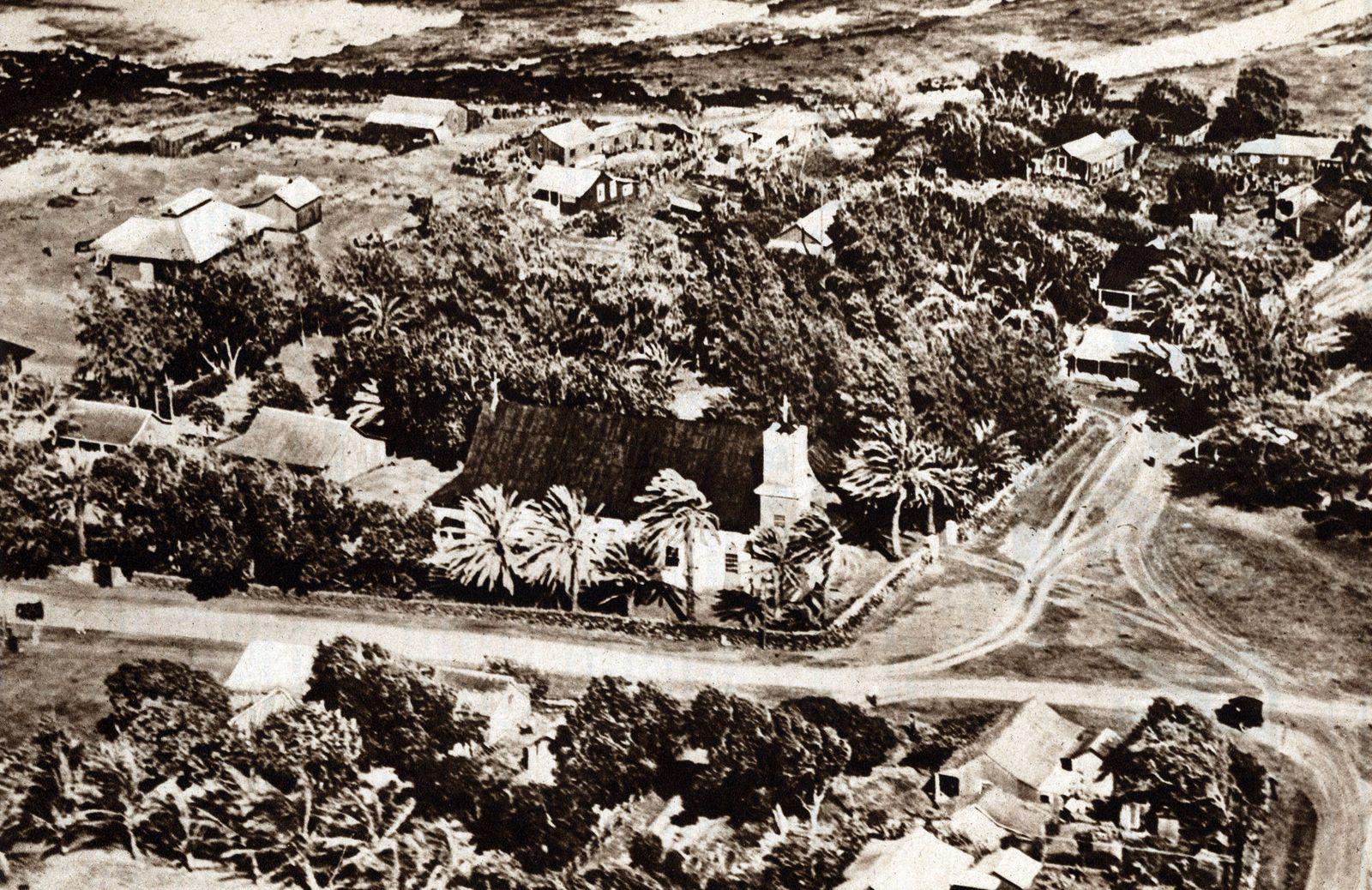 Vue sur la leproserie de Molokai construite par le pere Damien 1840 1889 a Hawai View of the lepe