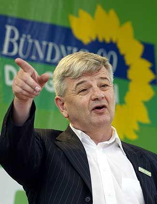 Fischer 2002: Auf Wahlkampftour (hier in Bremerhaven)