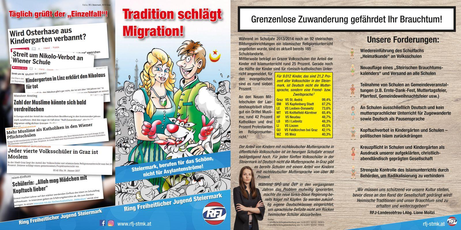 EINMALIGE VERWENDUNG Flyer/ Migration/ Kampagne/ RFJ