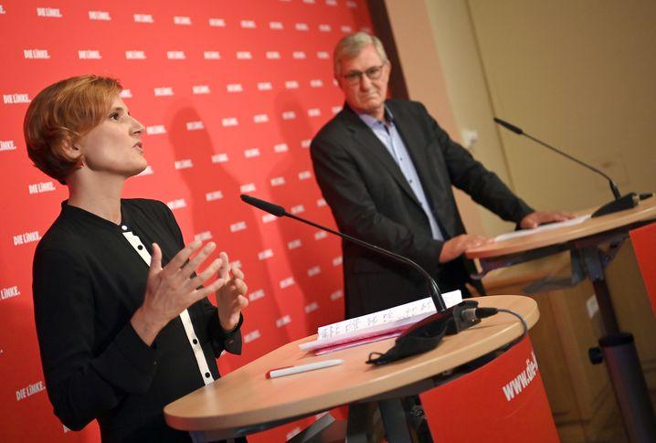 Scheidende Parteichefs: Katja Kipping und Bernd Riexinger in Berlin