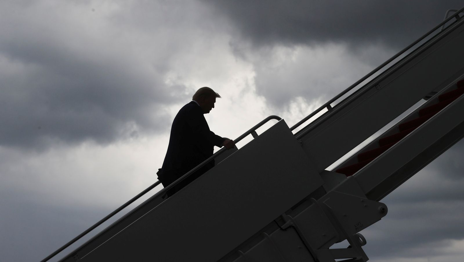 U.S. President Trump departs Washington for travel to Texas at Joint Base Andrews in Maryland