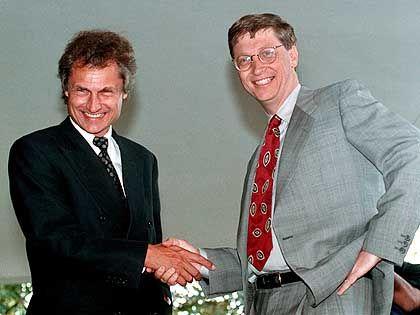 SAP-Gründer Henning Kagermann, Microsoft-Gründer Bill Gates: Partnerschaft soll Marktführerschaft absichern