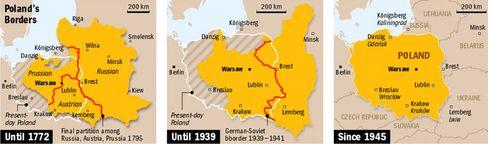 Poland's borders through the centuries.