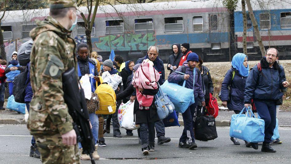 Flüchtlinge in Slowenien (Archiv)