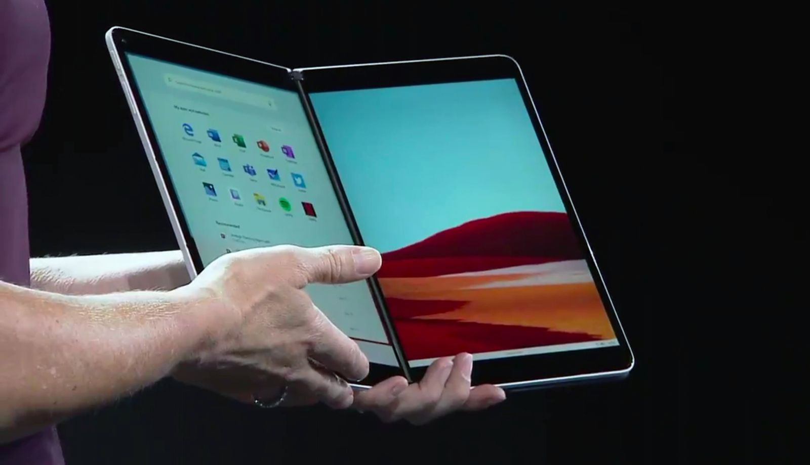EINMALIGE VERWENDUNG Microsoft Surface Event SCREENSHOT