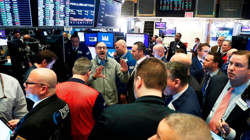 New Yorker Börsenhändler vor rund einer Woche