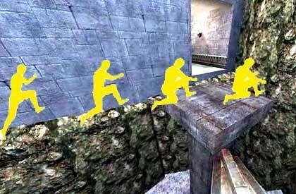 Trickjumping: Normalen Spielern entkommen