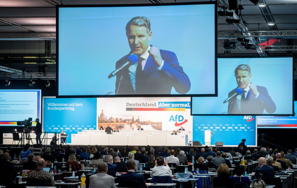 Björn Höcke, the extremist leader of the AfD in Thuringia.