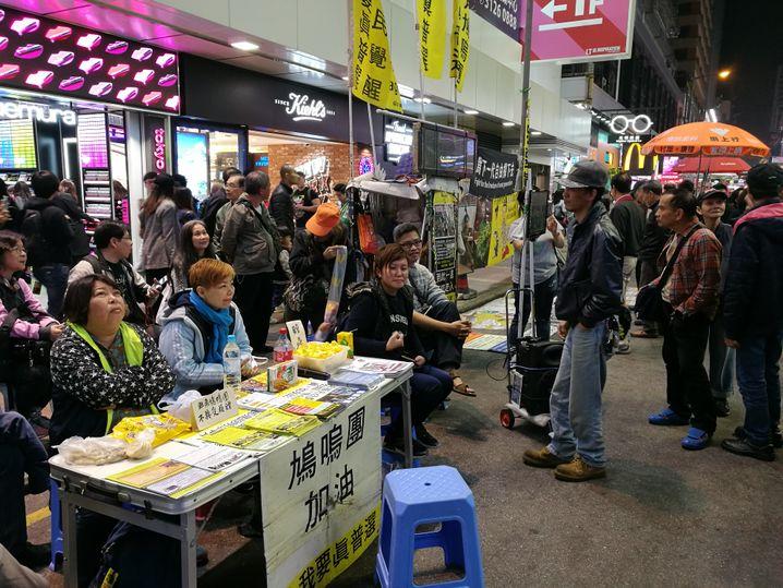 Aktivisten in Mong Kok
