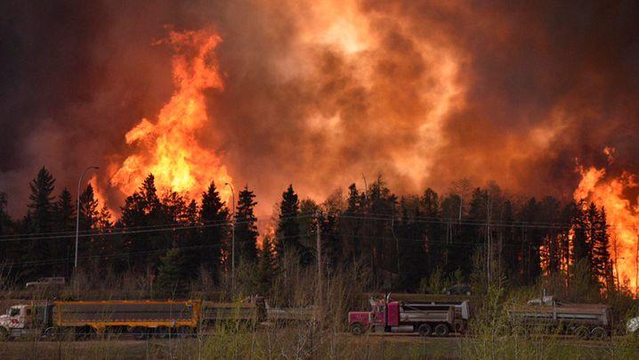 Verheerende Brände in Kanada: Flucht vor den Flammen