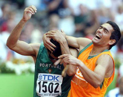 Blinder Sportler: Jubelpose wie bei sehenden Sportlern