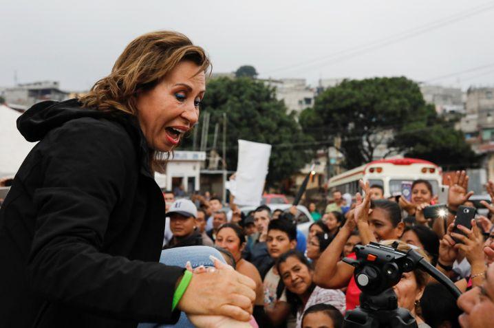 Sandra Torres - ihr Ex-Mann war schonmal Präsident, sie will ihm nun folgen