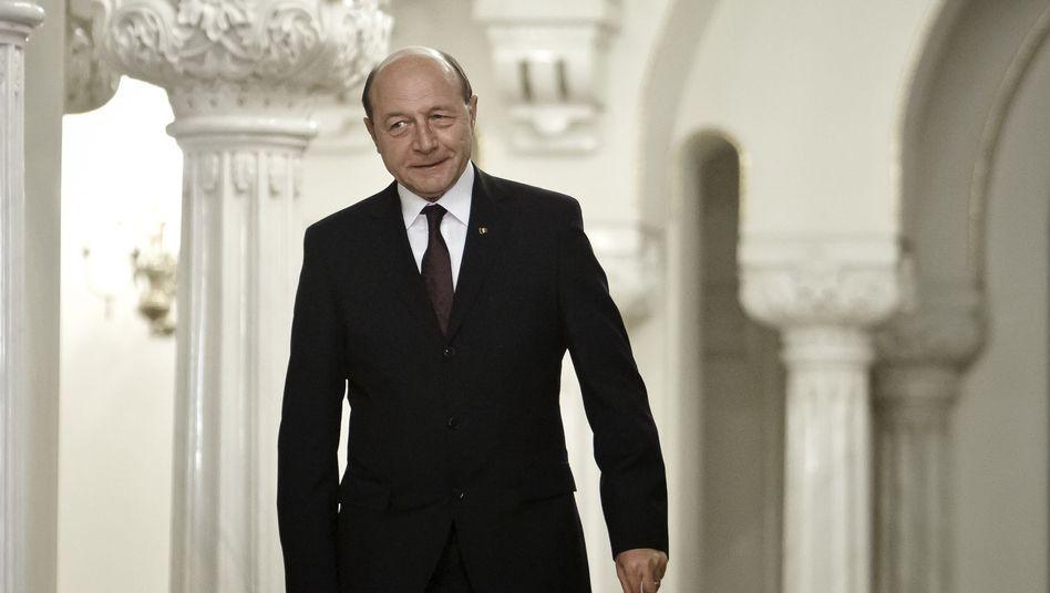 Staatspräsident Traian Basescu: Der Machtkampf der politischen Cliquen geht weiter