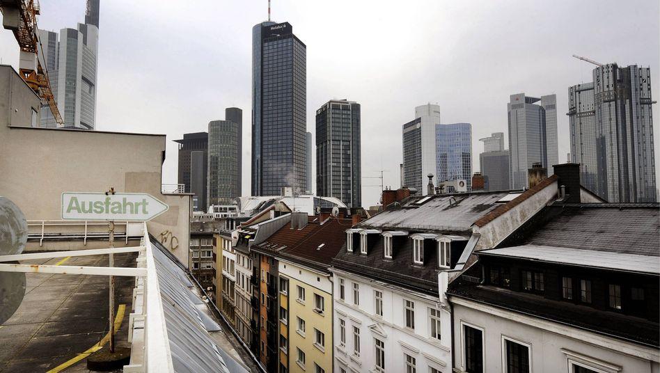 Frankfurter Banken-Skyline: Erschwerte Kreditvergabe