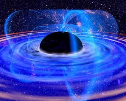 Vom Magnetfeld gebremst: Ein Schwarzes Loch verliert Energie