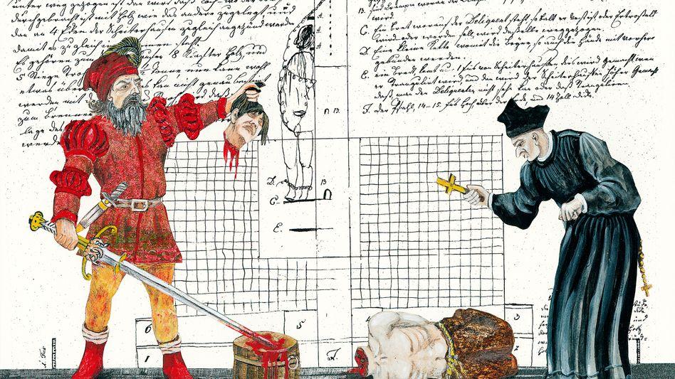 Scharfrichter bei der Arbeit: tiefe Kenntnis der menschlichen Anatomie